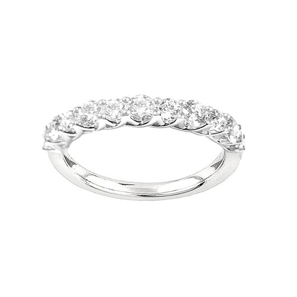 Eternity Ring with 0.80ct of Diamonds in 10ct White Gold Rings Bevilles