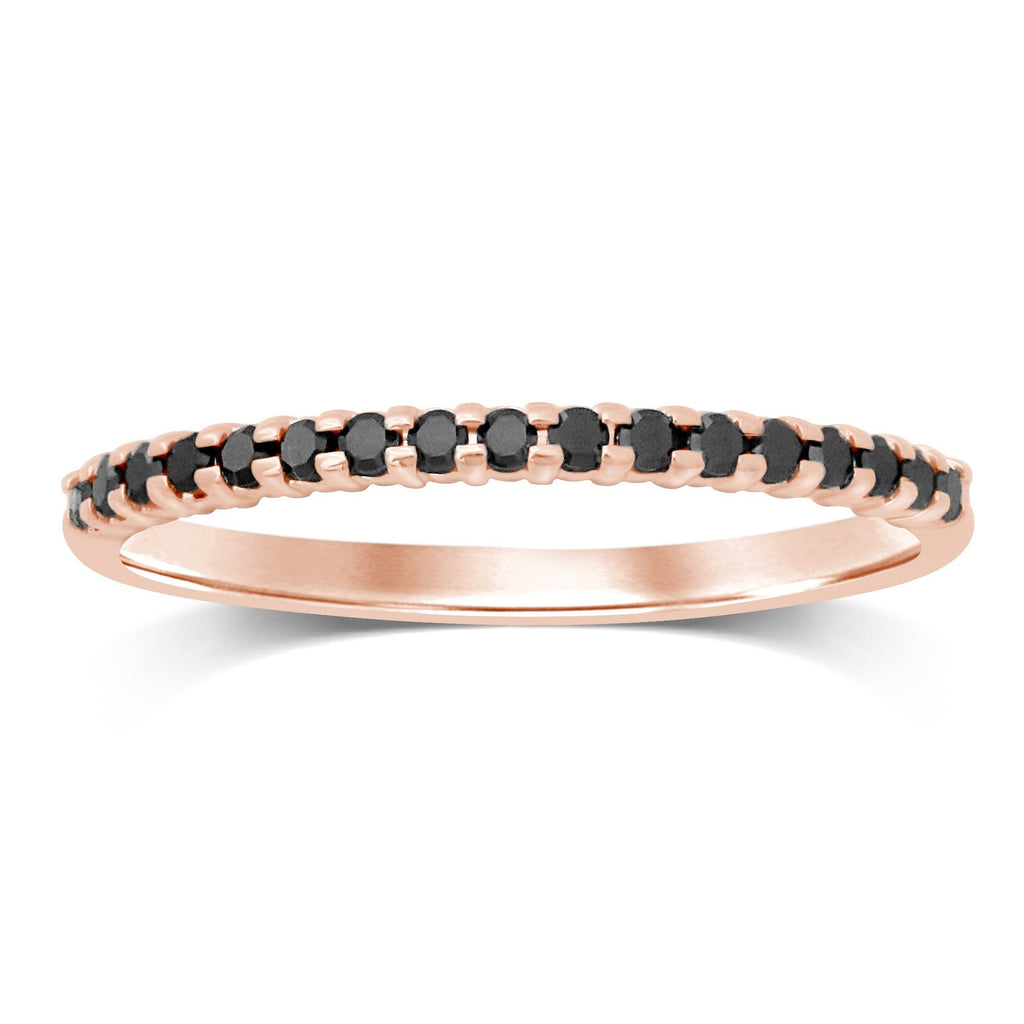 Eternity Ring with 0.10ct of Black Diamonds in 10ct Rose Gold Rings Bevilles