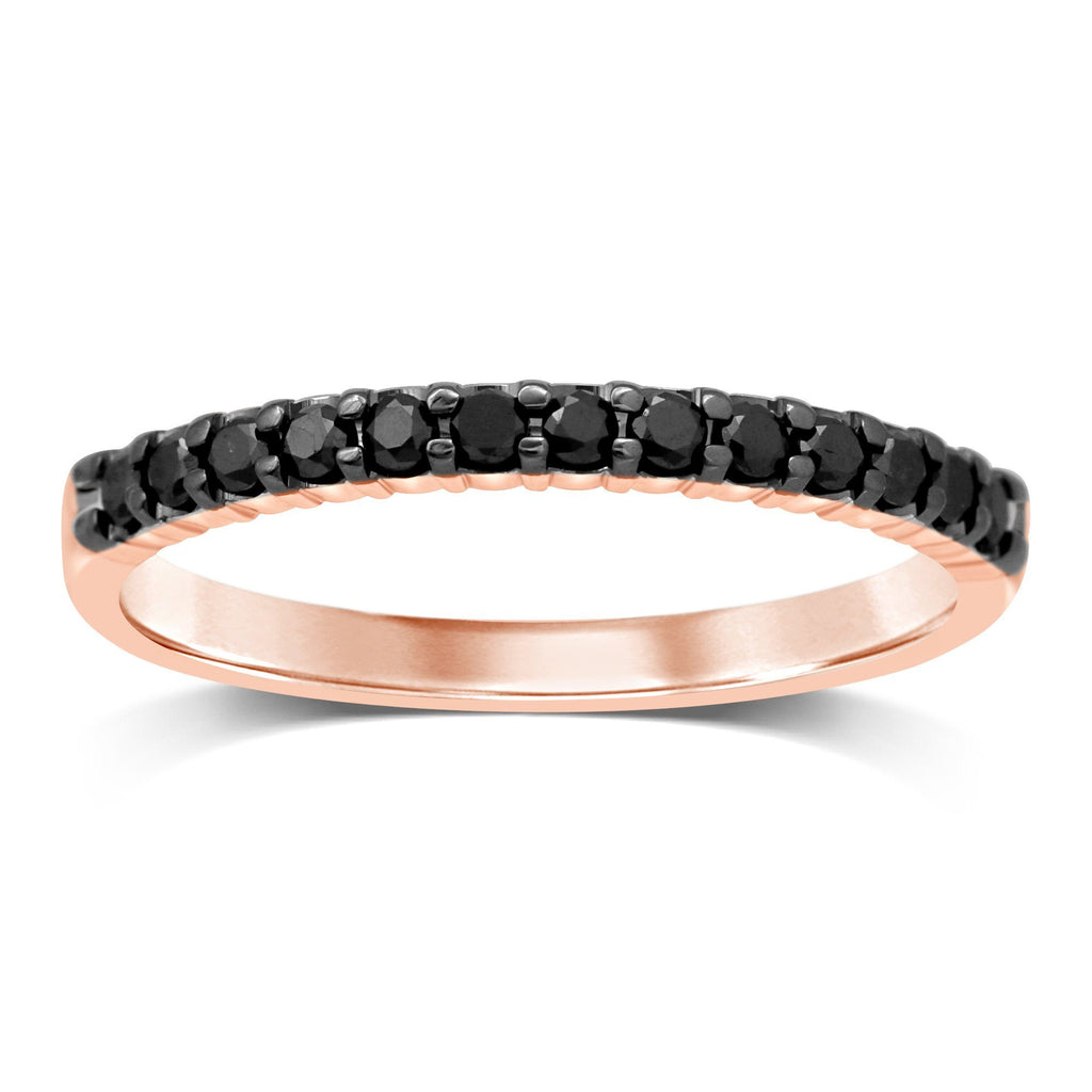 Eternity Ring with 0.20ct of Black Diamonds in 10ct Rose Gold Rings Bevilles
