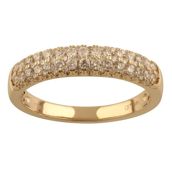 Pave Ring with 0.45ct of Diamonds in 14ct Yellow Gold Rings Bevilles