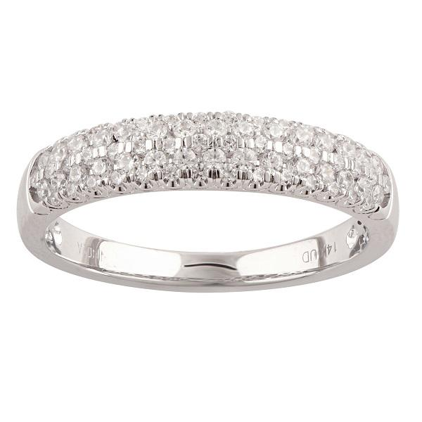 Pave Ring with 0.45ct of Diamonds in 14ct White Gold Rings Bevilles