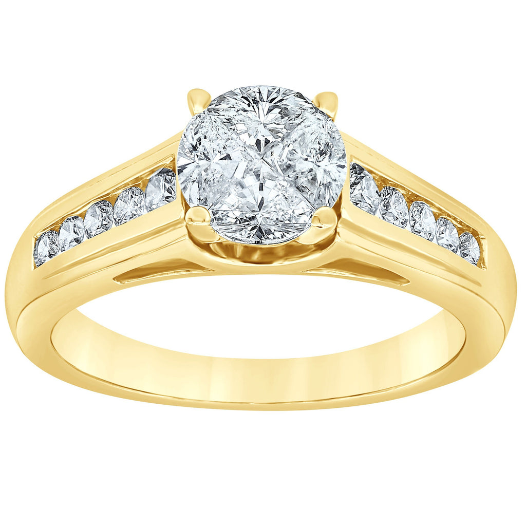 Brilliant Channel Ring with 0.70ct of Diamonds in 14ct Yellow Gold Rings Bevilles