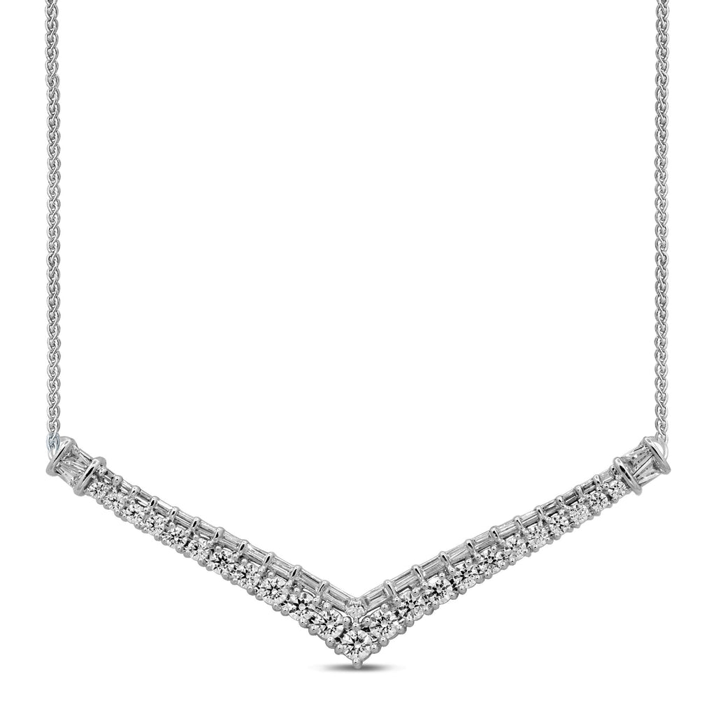 Brilliant Necklace with 1.95ct of Diamonds in 14ct White Gold Necklaces Bevilles
