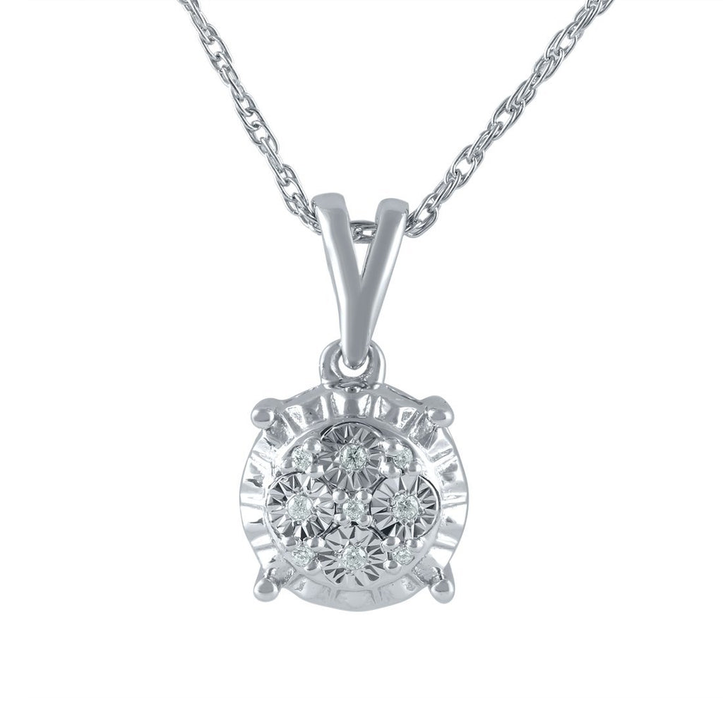 Sterling Silver Diamond Set Miracle Necklace Necklaces Bevilles
