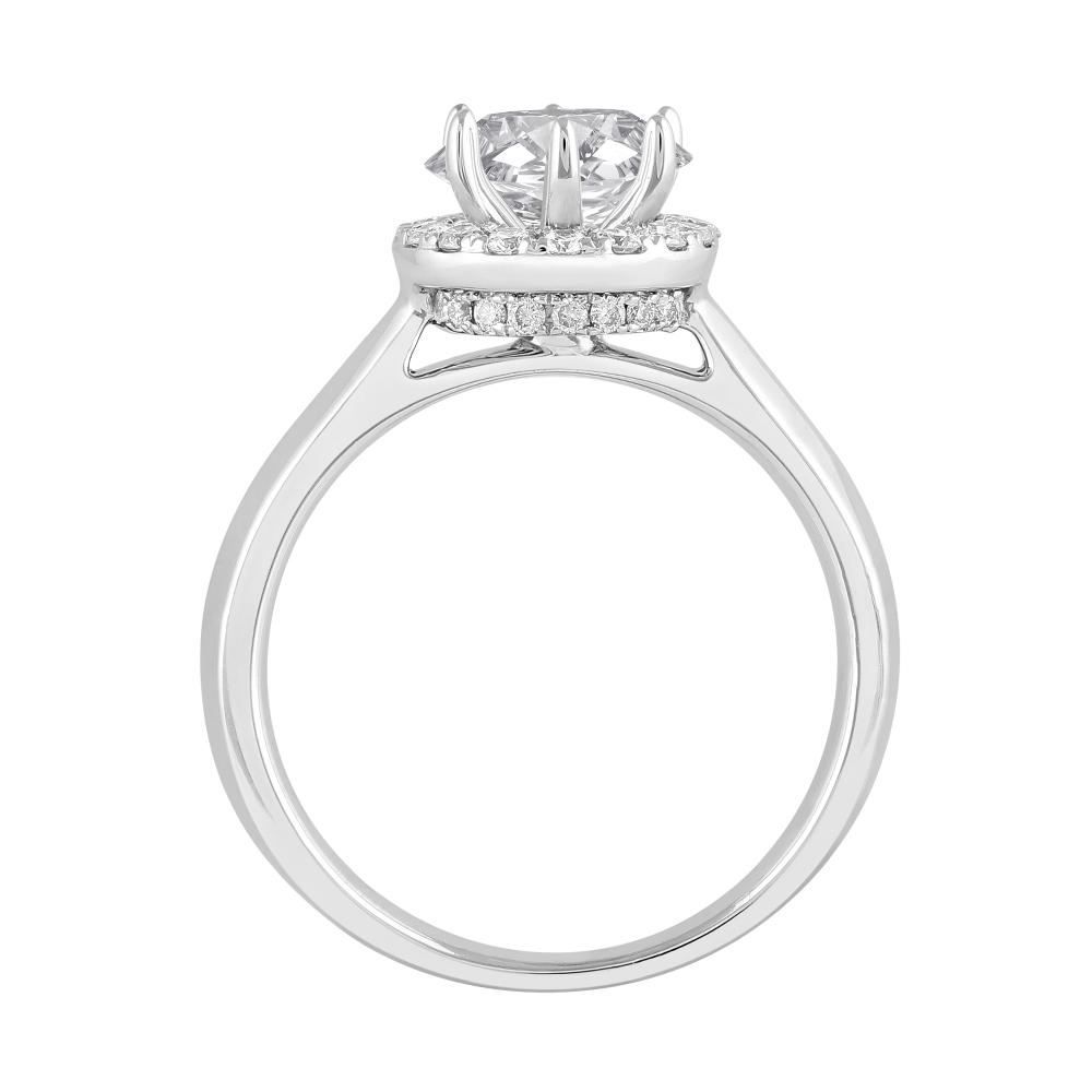 Love by Michelle Beville Halo Solitaire Ring with 1.29ct of Diamonds in 18ct White Gold Rings Bevilles