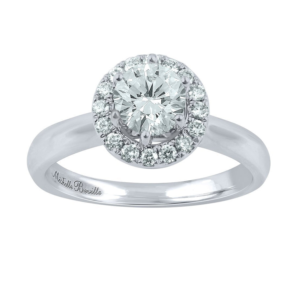 Love by Michelle Beville Signature Collection 18ct White Gold 1.29ct of Diamond Solitaire Ring