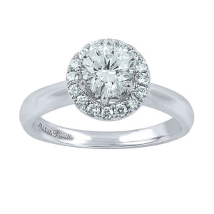 Love by Michelle Beville Halo Solitaire Ring with 1.29ct of Diamonds in 18ct White Gold