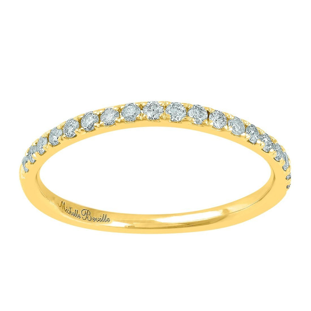 Love by Michelle Beville Eternity Ring with 1/5ct of Diamonds in 18ct Yellow Gold Rings Bevilles