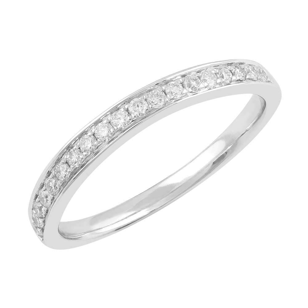 Love by Michelle Beville Grain Eternity Ring with 0.18ct of Diamonds in 18ct White Gold Rings Bevilles