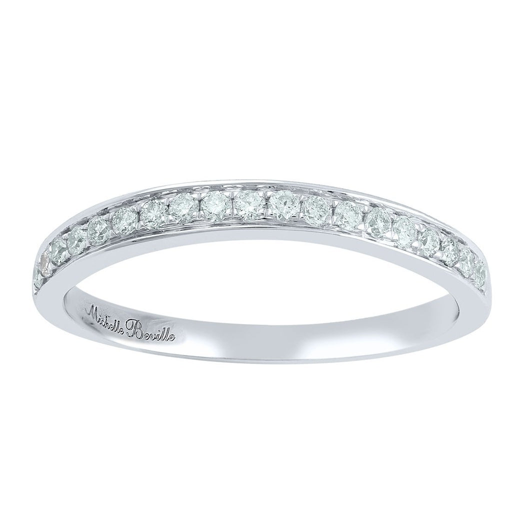 Love by Michelle Beville Grain Eternity Ring with 0.18ct of Diamonds in 18ct White Gold
