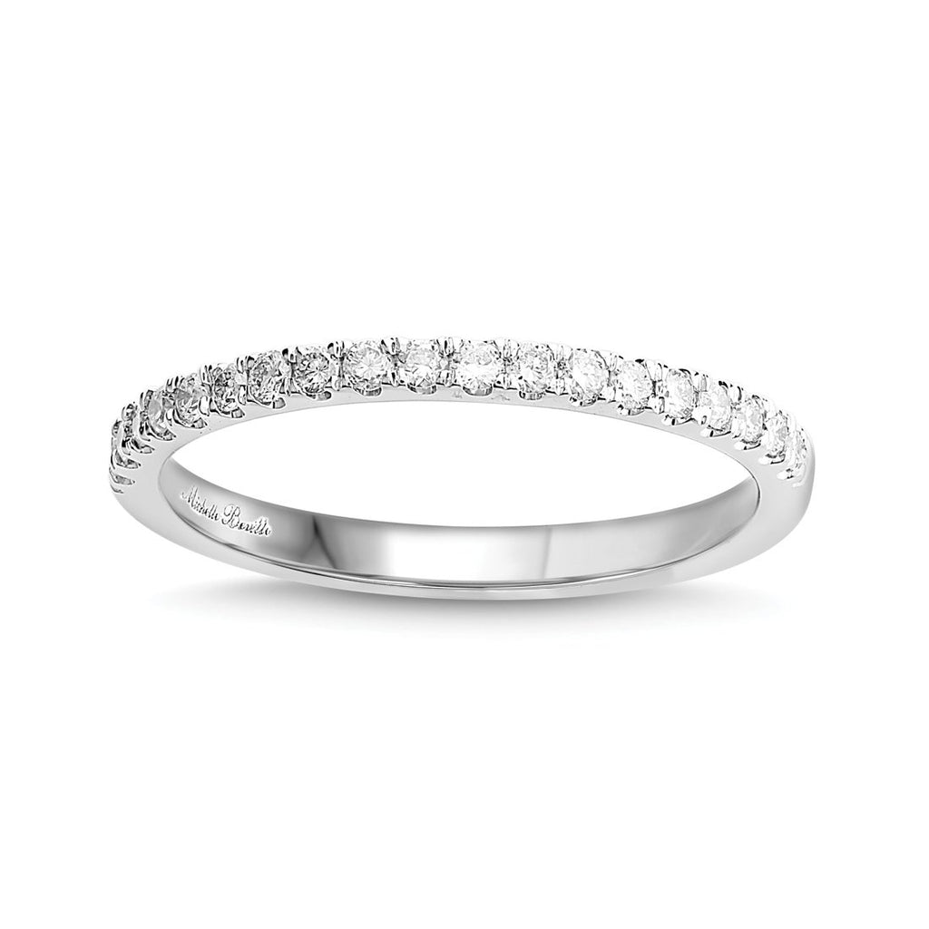 Love by Michelle Beville Brilliant Eternity Ring with 1/5ct of Diamonds in 18ct White Gold
