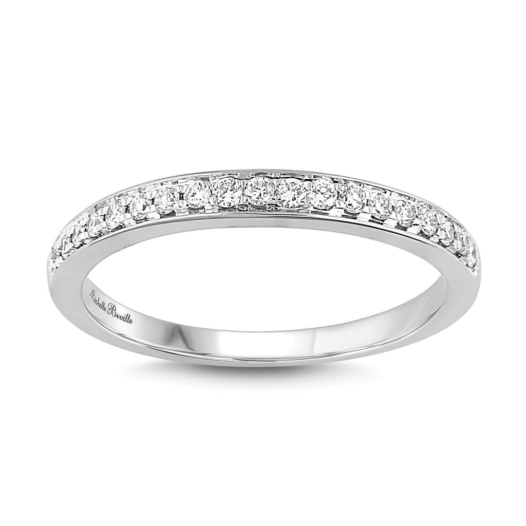 Love by Michelle Beville Grain Eternity Ring with 0.15ct of Diamonds in 18ct White Gold