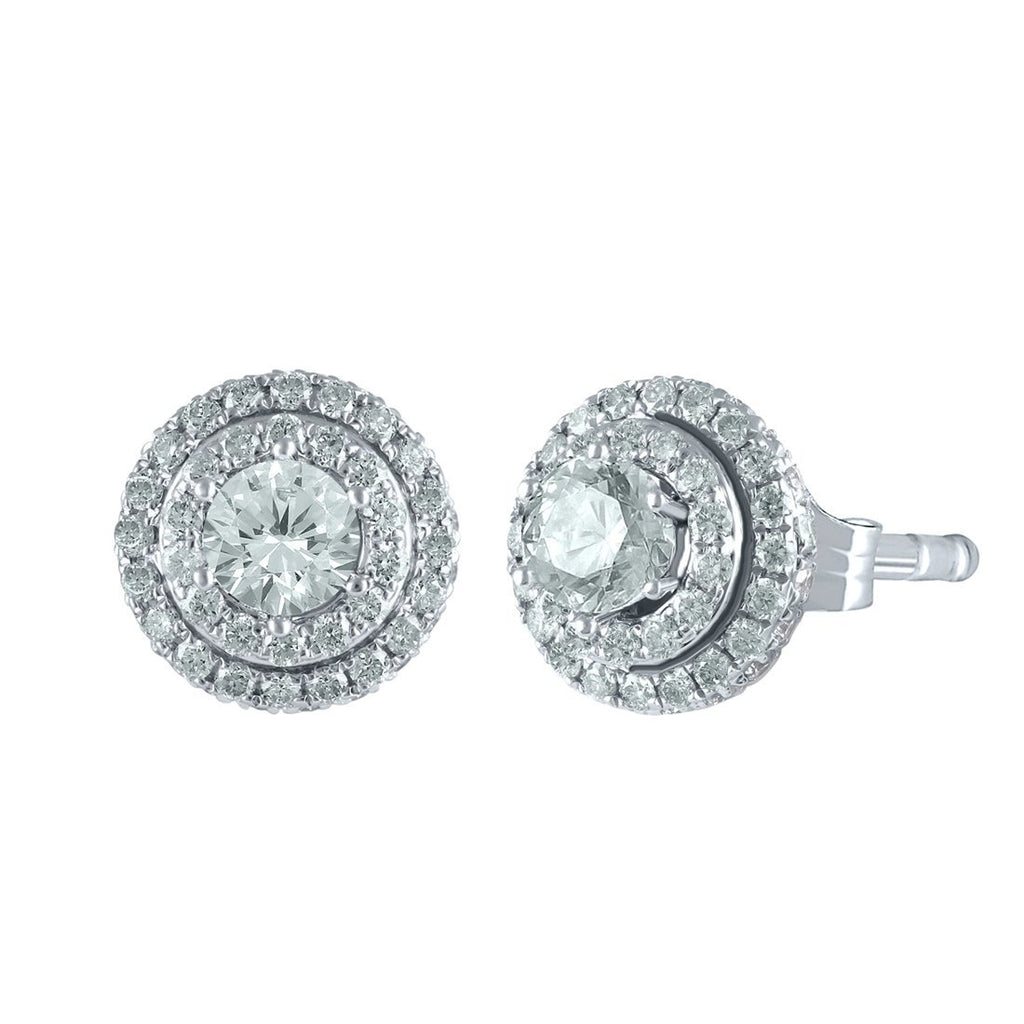 Love By Michelle Beville Earrings with 1.50ct of Diamonds in 18ct White Gold Earrings Bevilles