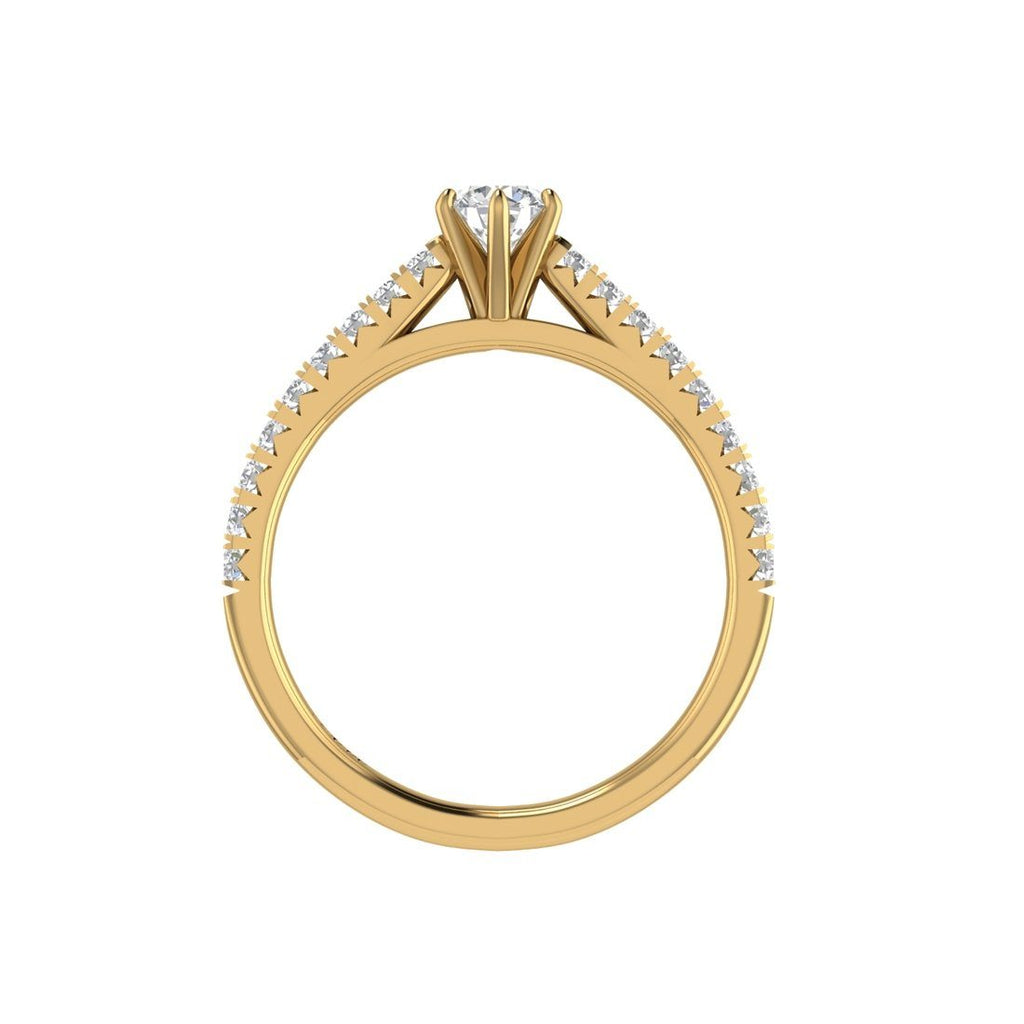 Facets of Love Brilliant Solitaire Ring with 0.60ct of Diamonds in 18ct Yellow Gold Rings Bevilles