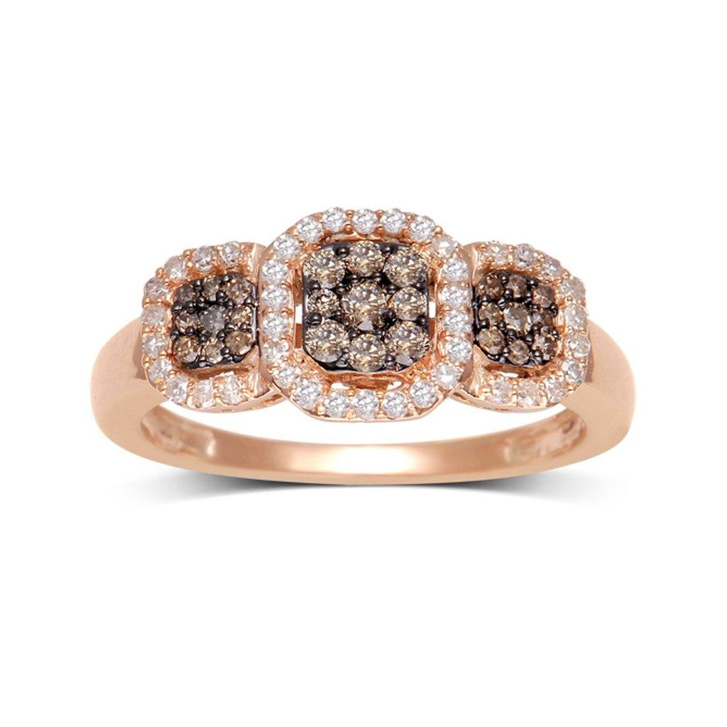 9ct Rose Gold 0.50ct Diamond Ring Rings Bevilles