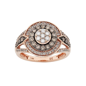 9ct Rose Gold 1.00ct Diamond Ring