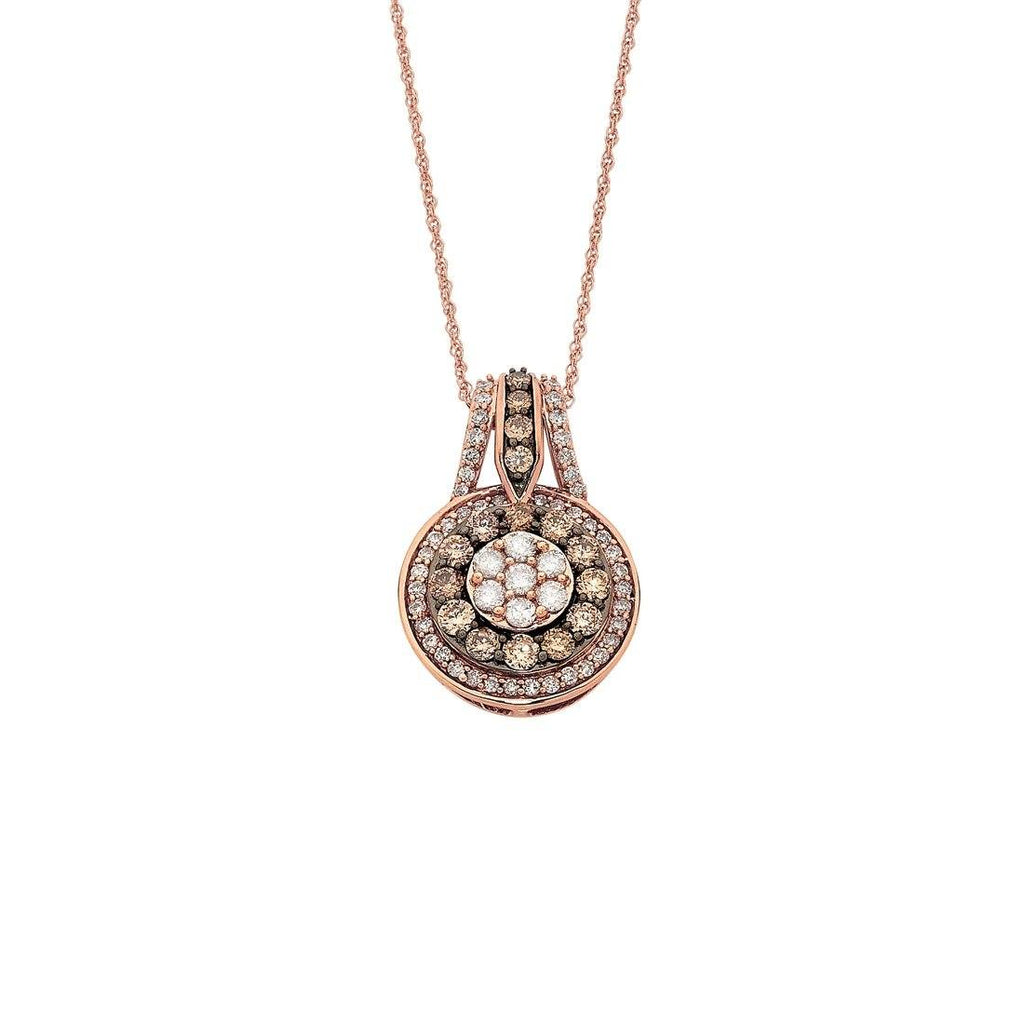 9ct Rose Gold 1.00ct Cognac Diamond Necklace