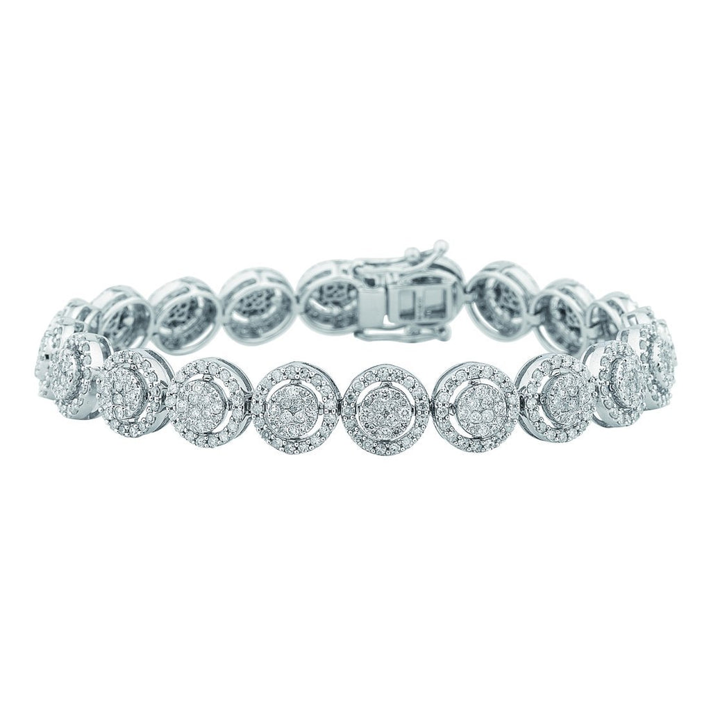 9ct White Gold Diamond Bracelet 3.00ct Bracelets Bevilles