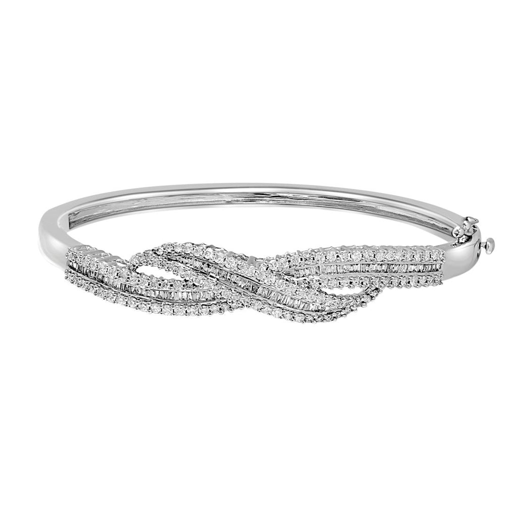 9ct White Gold 2.25ct Diamond Bracelet Bracelets Bevilles