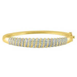 9ct Yellow Gold 1.27ct Diamond Bangle