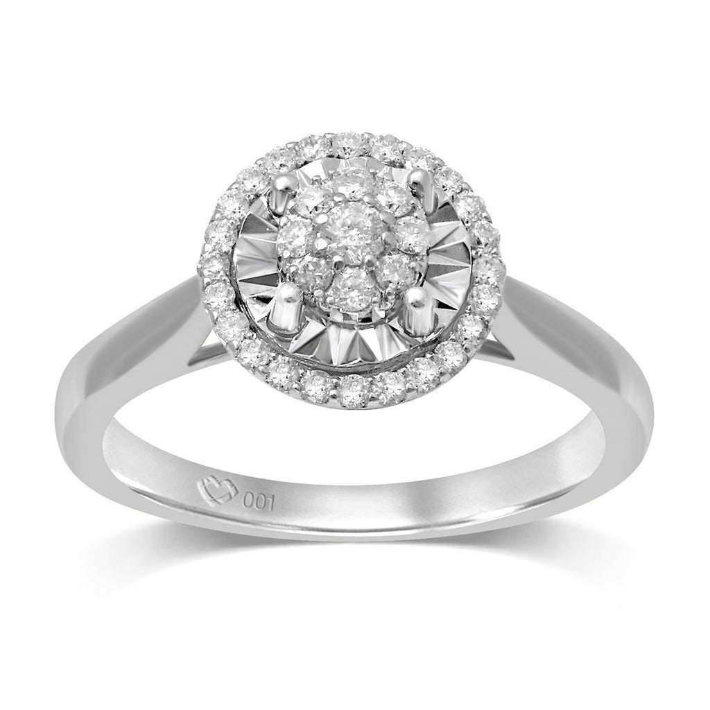 Limited Edition 9ct White Gold 1/5ct of Diamonds Ring