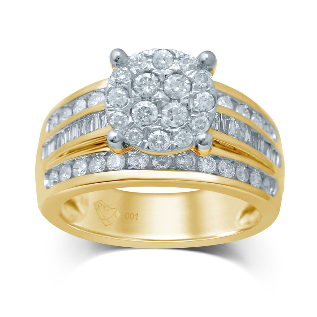 Limited Edition 9ct Yellow Gold Composite Ring with 1.25ct of Diamonds