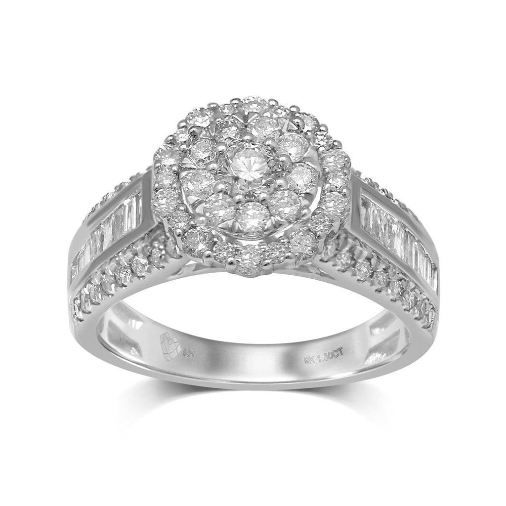 Limited Edition 9ct White Gold 1.50ct Diamond Ring