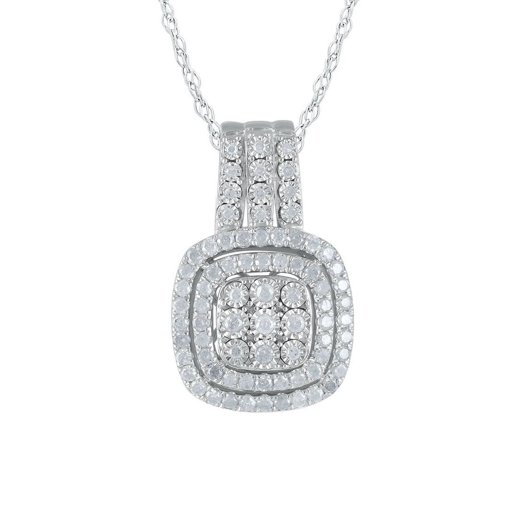 Sterling Silver 1.00ct Diamond Necklace Necklaces Bevilles