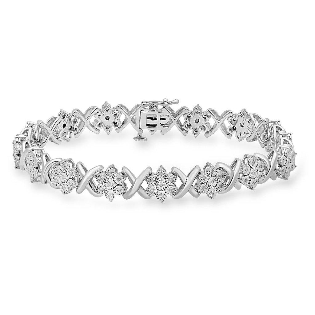 Sterling Silver 0.25ct Diamond Star Bracelet Bracelets Bevilles