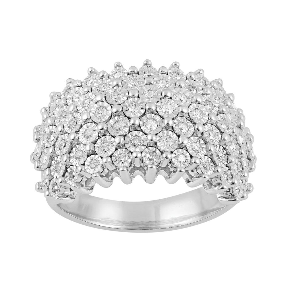 Sterling Silver 0.40ct Diamond Dress Ring