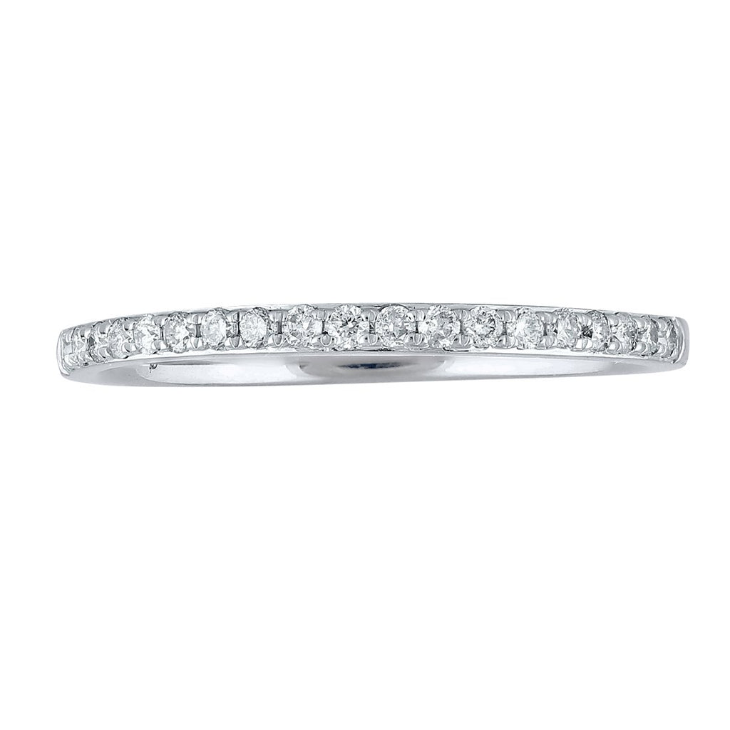 Unique Love 18ct White Gold Diamond Eternity Band Rings Bevilles