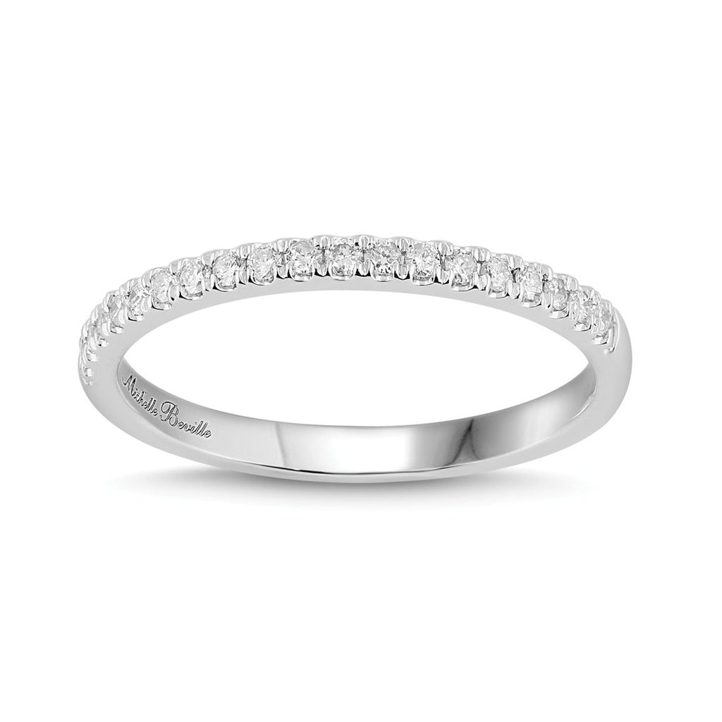 Eternity Ring with 0.15ct of Diamonds in 18ct White Gold Rings Bevilles