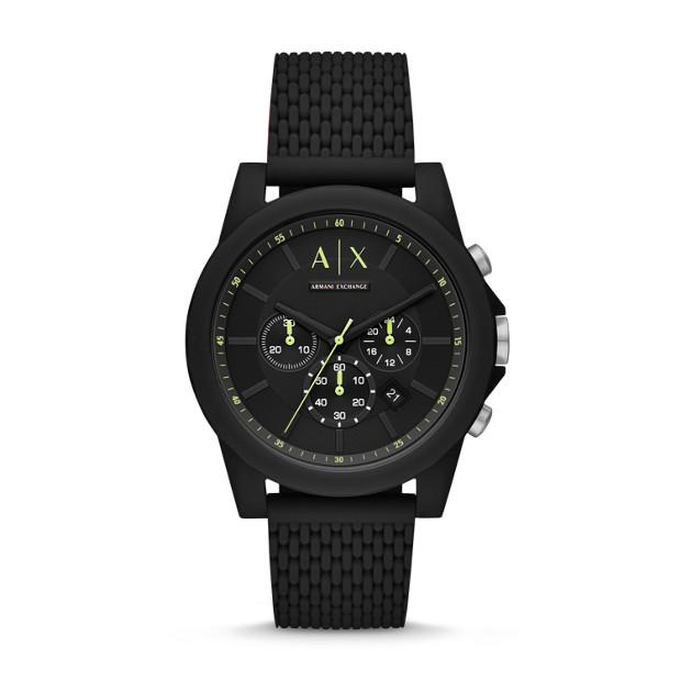 Armani Exchange Black Chronograph Watch Watches Armani Exchange