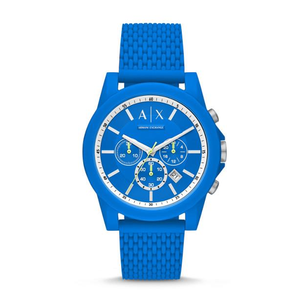 Armani Exchange Blue Chronograph Watch Watches Armani Exchange