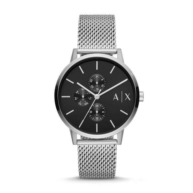 Armani Exchange Silver-Tone Analogue Watch Watches Armani Exchange