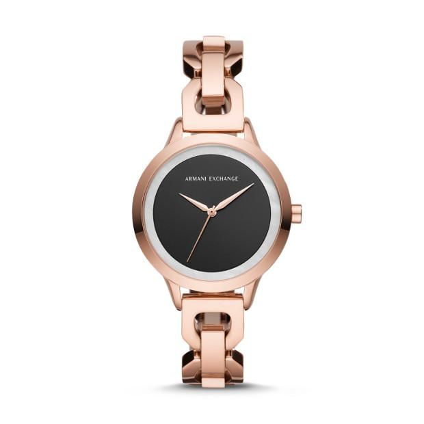 Armani Exchange Rose Gold-Tone Analogue Watch Watches Armani Exchange