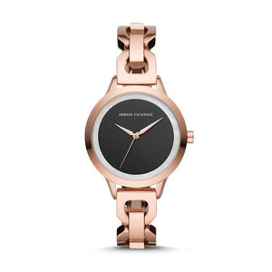 Armani Exchange Rose Gold-Tone Analogue Watch