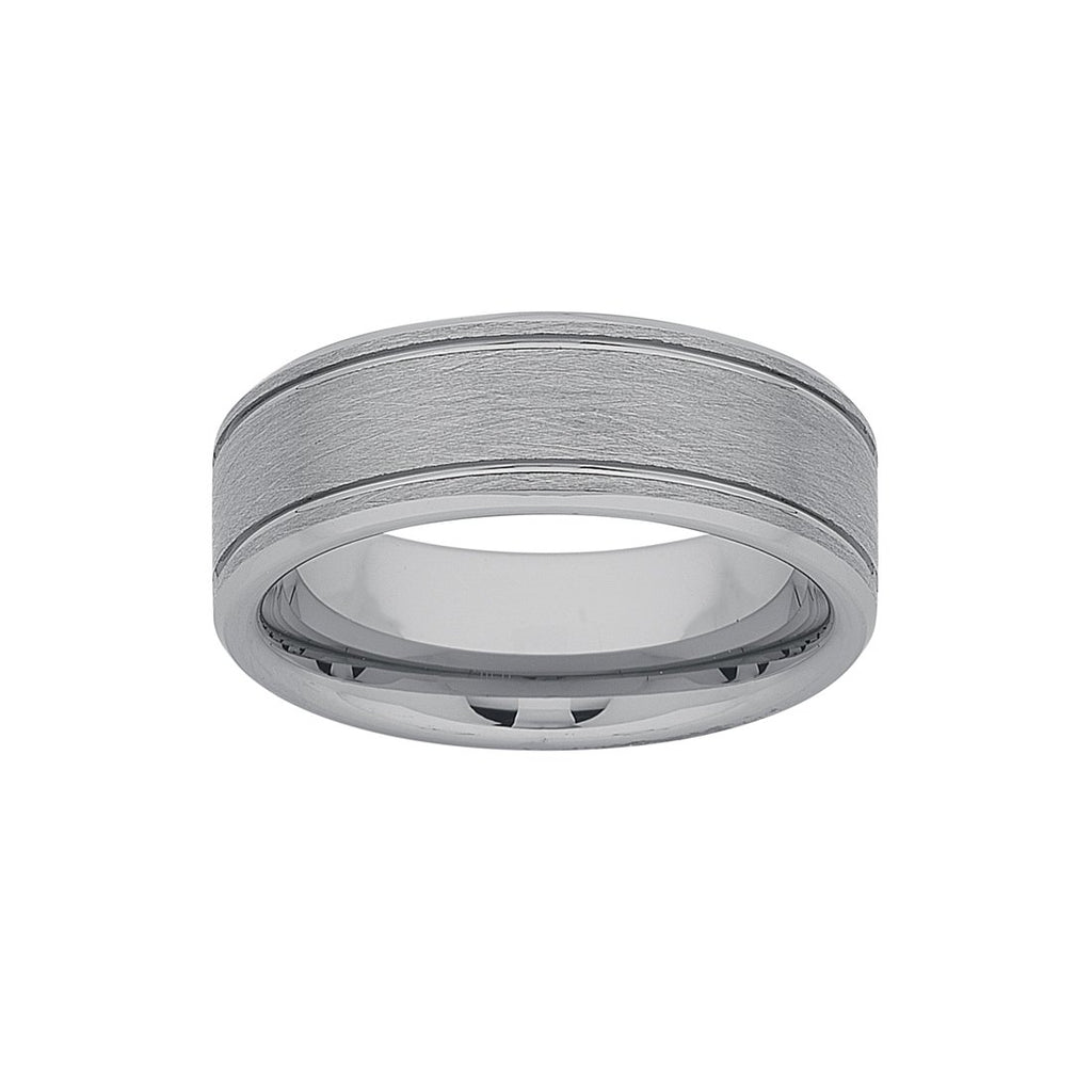 Stanton Made for Men Tungsten Ring 8mm Rings Bevilles
