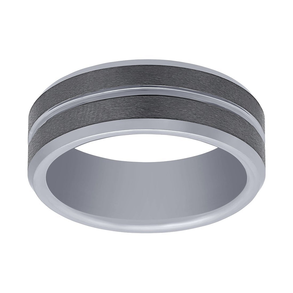 Stanton Made for Men Tungsten Polished Centre Ring 8mm Rings Stanton