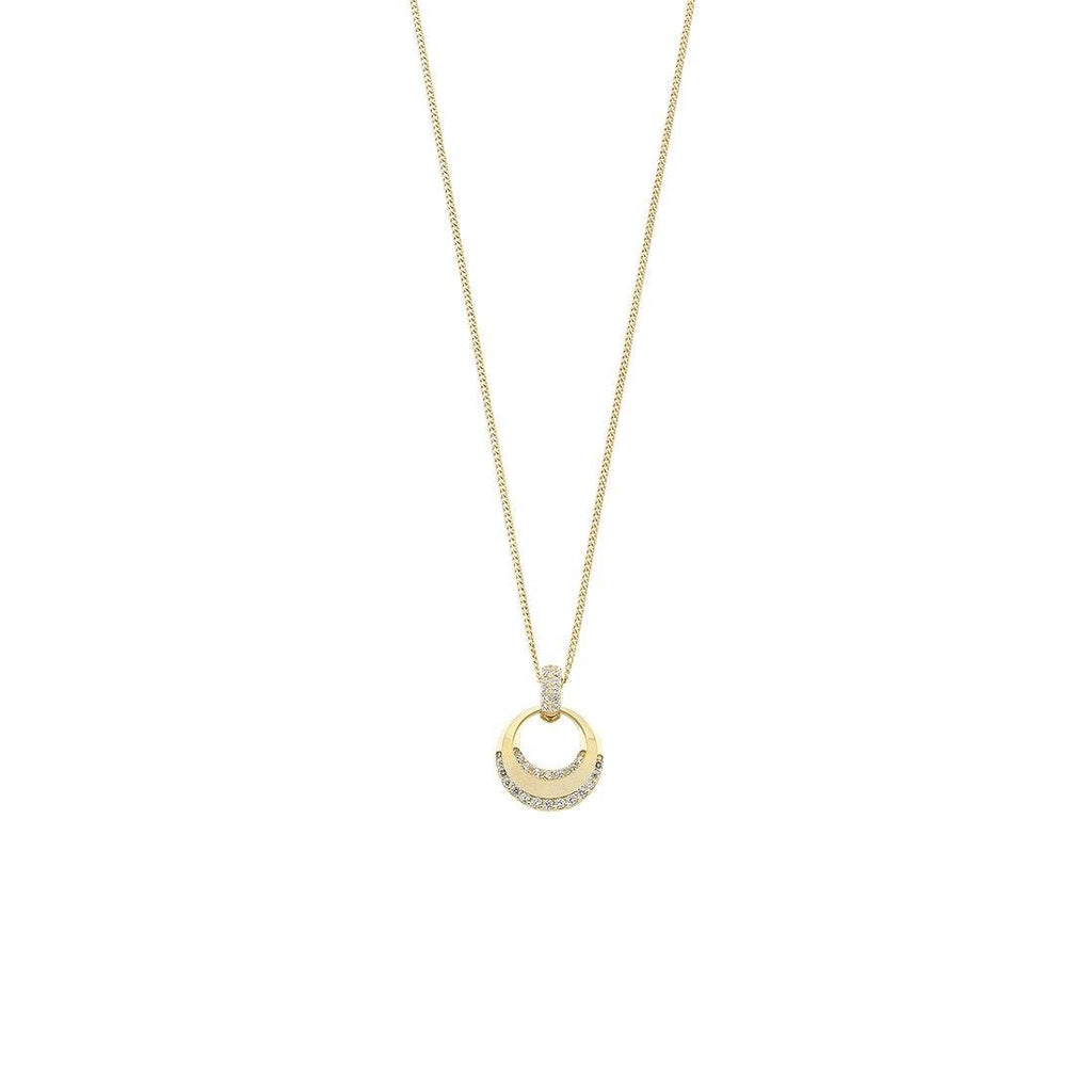 9ct Gold Pendant With Silver Infused Chain Necklaces Bevilles