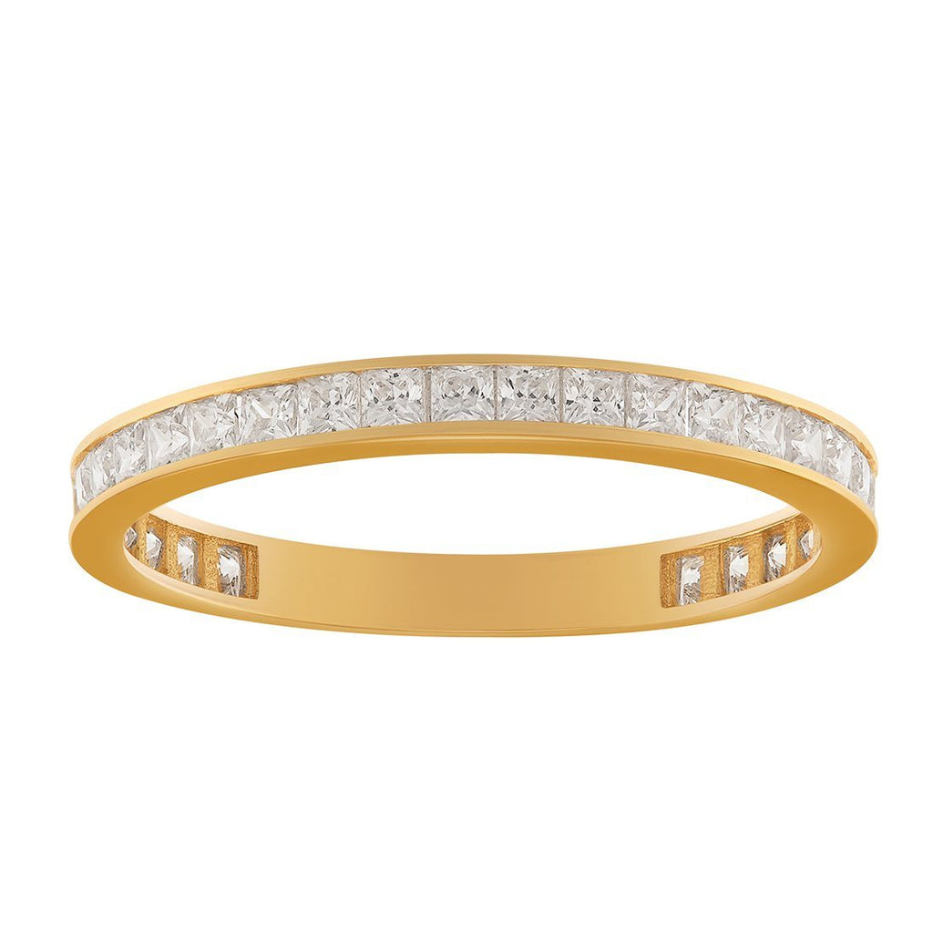 Eternity Ring with Cubic Zirconias in 9ct Yellow Gold Rings Bevilles