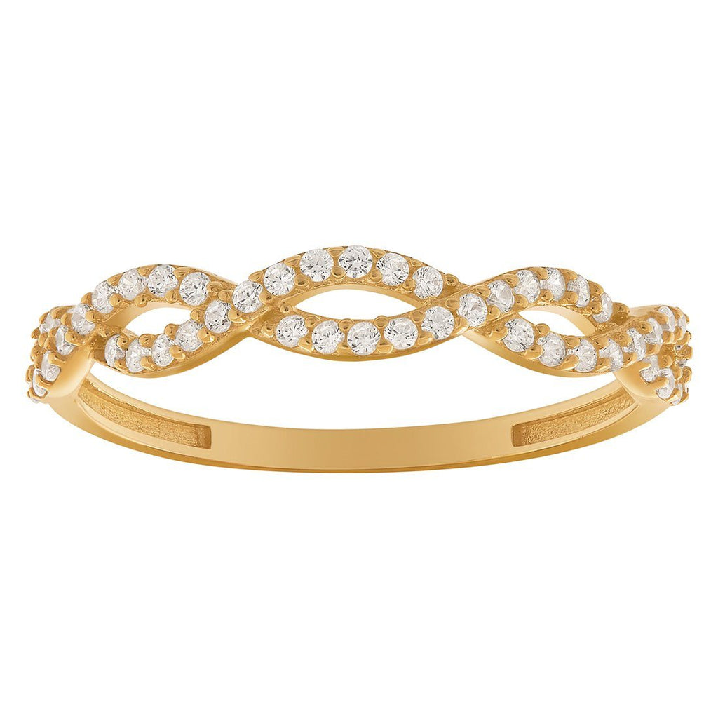 Plait Stackable Ring in 9ct Yellow Gold Rings Bevilles