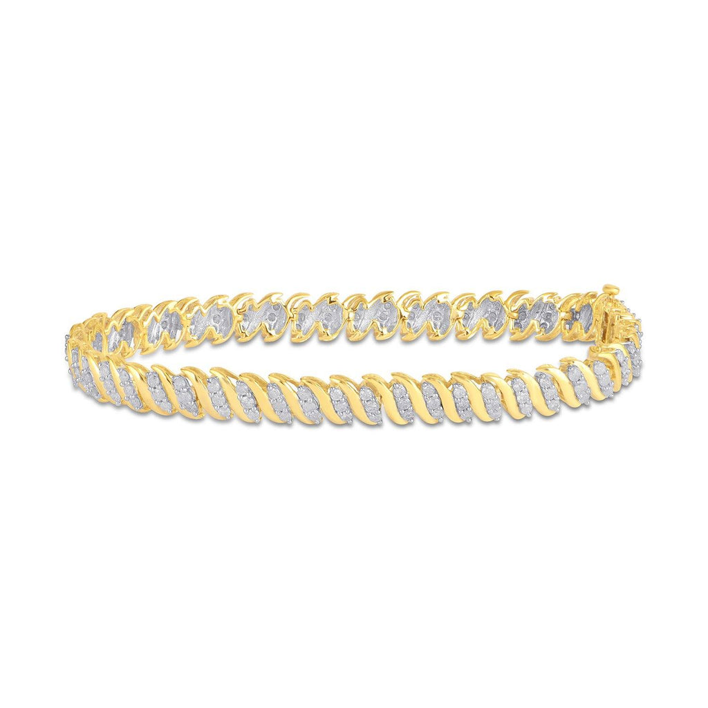 Brilliant Set Bracelet with 2.00ct of Diamonds in 9ct Yellow Gold Bracelets Bevilles