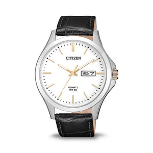 Citizen Mens Leather Strap Watch BF2009-11A