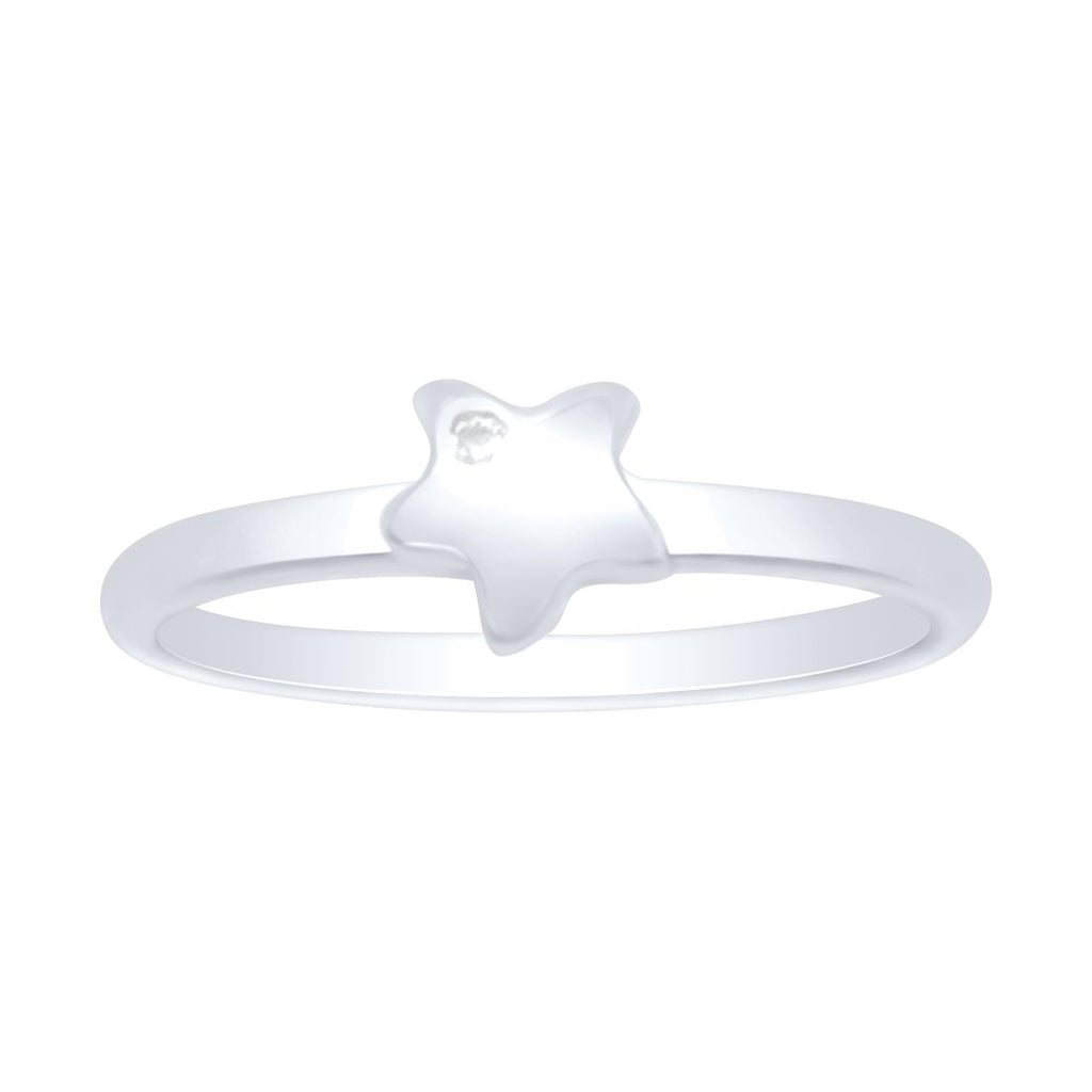 Mini Puff Star Ring in Sterling Silver Rings Bevilles