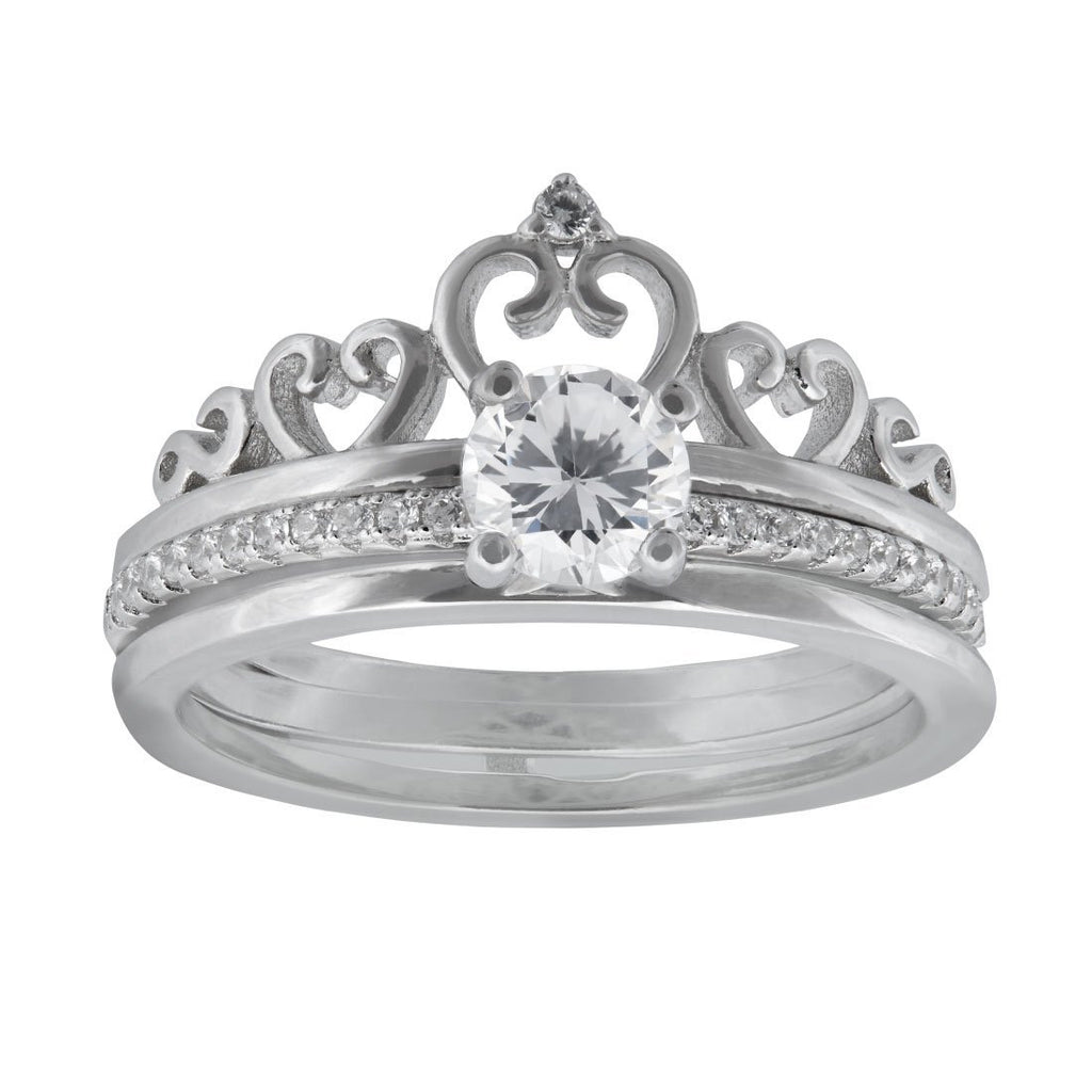 Three Ring Crown Set in Sterling Silver Rings Bevilles