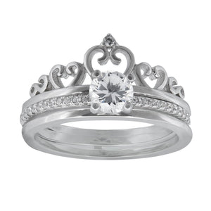 Three Ring Crown Set in Sterling Silver