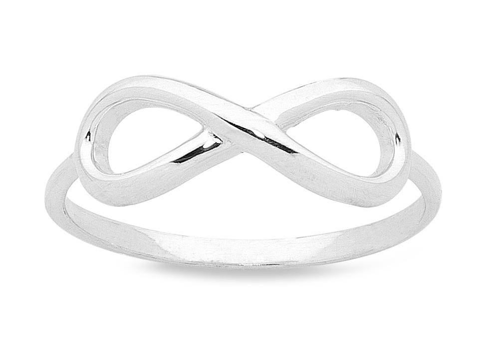 Sterling Silver Plain Infinity Ring Rings Bevilles