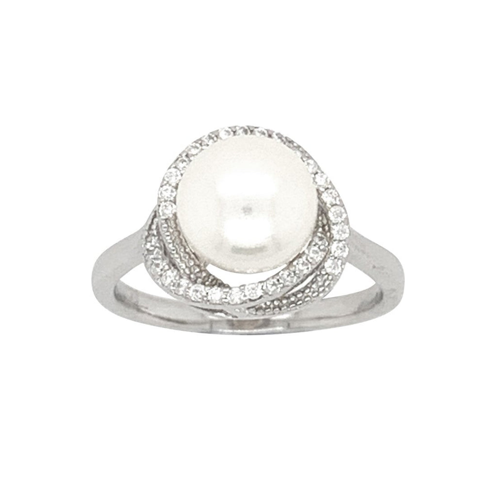 Sterling Silver Fresh Water Pearl Halo Ring Rings Bevilles