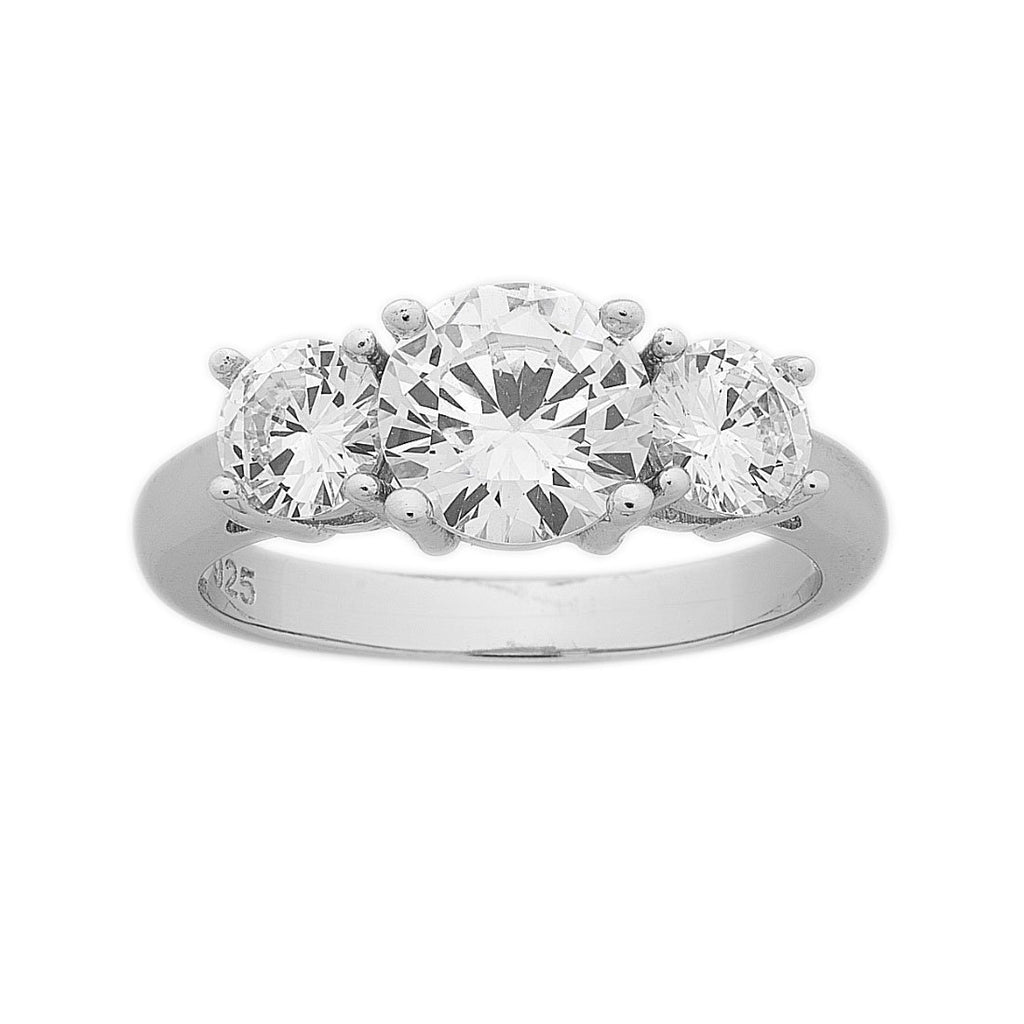 Sterling Silver Cubic Zirconia Ring Rings Bevilles